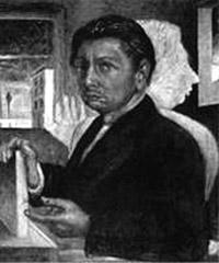 Giorgio De Chirico, 'Autoritratto con la propria ombra' (1920)