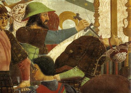 La morte del figlio di Cosroe, Piero della Francesca, 'Leggenda della Vera Croce', Arezzo