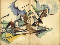 André Mare, 'Cannone camuffato', Sketchbook (1917)