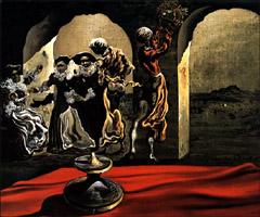 Salvador Dalí, 'Busto invisibile di Voltaire' (1943)