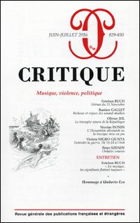 Musique, violence, politique