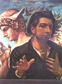 Giorgio De Chirico, 'Autoritratto con busto di Mercurio' (1923)