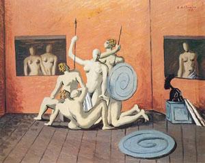 Giorgio De Chirico, 'Combattimento di Amazzoni' (1927)