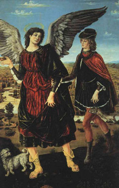 Il Pollaiolo, 'Tobia e l'angelo' (1460)
