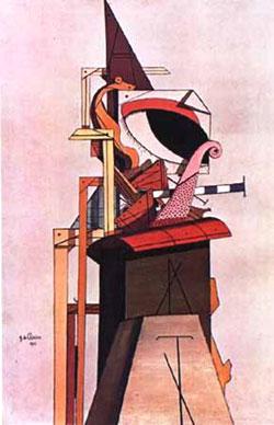 Giorgio De Chirico, 'L'angelo ebreo' (1916)