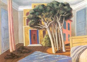 Giorgio De Chirico, 'La camera dell'artista sul Mediterraneo' (1928)