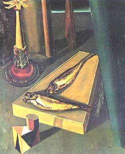 Giorgio De Chirico, 'Pesci sacri' (1918)