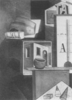 Carlo Carrà, 'Composizione TA' (1916-1918)