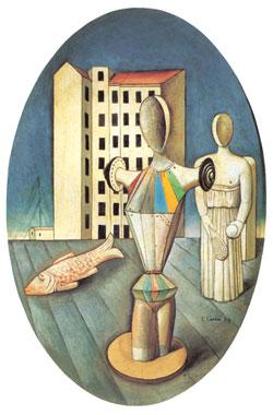Carlo Carrà, 'L'ovale delle apparizioni' (1918)