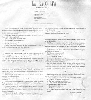 Carlo Carrà, 'Il ritorno di Tobia' (La raccolta, 1918)
