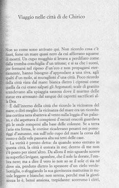 Italo Calvino, 'Viaggio nelle città di De Chirico' (1982)