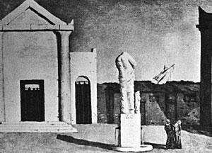 Giorgio De Chirico, 'L'enigma di un pomeriggio d'autunno' (1910)