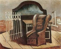 Giorgio De Chirico, 'Mobili nella valle' (1930)