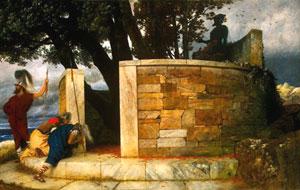 Arnold Bocklin, 'Il santuario di Ercole' (1884)