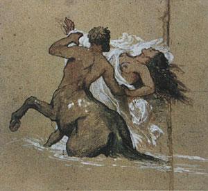 Arnold Bocklin, 'Centauro e ninfa' (1885)