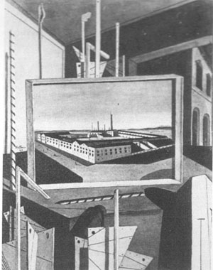 Giorgio De Chirico, 'Interno metafisico con grande officina' (1917)