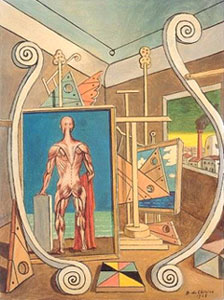 'Interno metafisico con nudo anatomico' (1968)