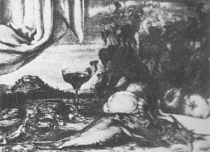 Giorgio De Chirico, 'Il bicchiere di vino' (1923)