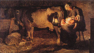 Giovanni Segantini, 'Le due madri' (1889)