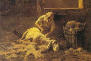 Giovanni Segantini, 'Il reddito del pastore' (1883)