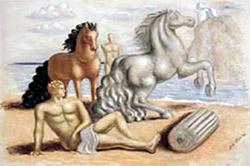 'Cavalli con Dioscuri in riva al mare' (1929)