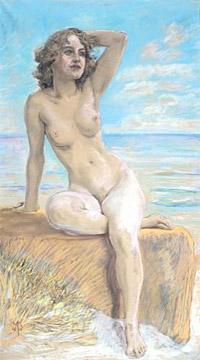 Max Klinger, 'Female Nude'