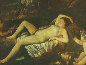 Poussin, 'The sleeping Venus and Cupid' (ca. 1630)