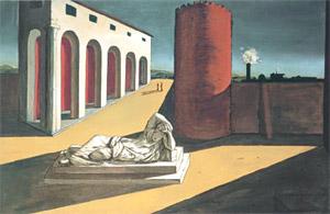 Giorgio De Chirico, 'The joys and enigmas of a strange hour' (1913)