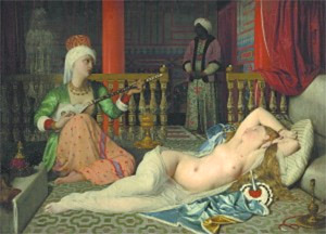 Jean Auguste Dominique Ingres, 'Odalisque with a Slave' (1839-1840)