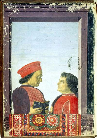 Federico da Montefeltro, urbinate, e Cristoforo Landino, fiorentino